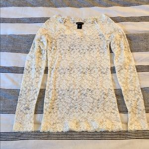 NWOT ivory lace top